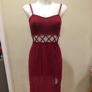 Akira red label dress